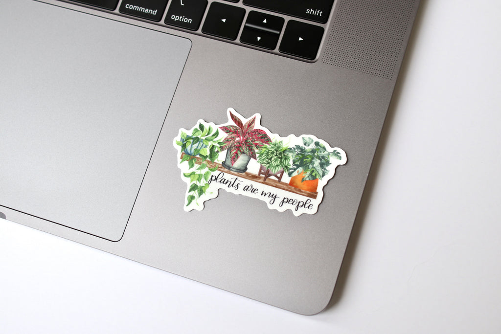 Plants are my People Sticker