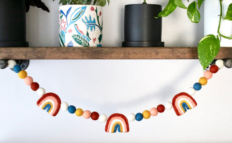 Terracotta Rainbow Garland