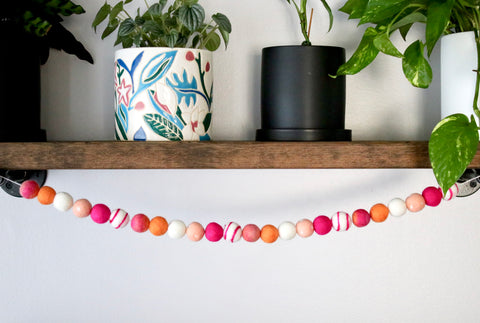 Pink and Orange Tie Dye Garland