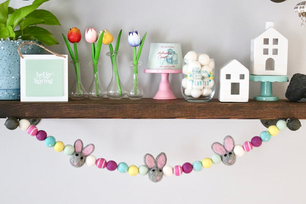 Blush Pink Easter Bunny Garland