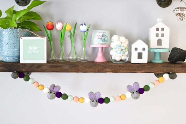 Lilac Easter Bunny Garland