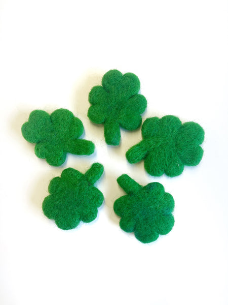 Felt Shamrocks - Loose Shapes