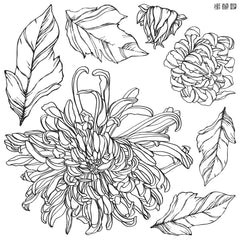 Iron Orchid Designs Chrysanthemum Decor Stamp, New Release 2021