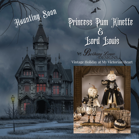 Bethany Lowe Designs Princess Pum Kinette and Lord Louis Halloween Fall Decor