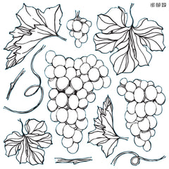 Iron Orchid Designs Grapes Decor Stamps, New Release 2021