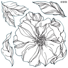 Iron Orchid Designs Peonies Decor Stamp, 2 Sheets, New Release 2021