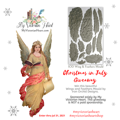 Christmas in July IOD Wings and Feathers Mould Giveaway