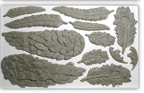 IOD Wings and Feathers Mould, Iron Orchid Designs
