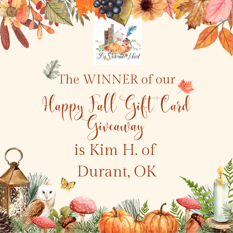 My Victorian Heart Happy Fall Gift Card Giveaway Winner Announcement