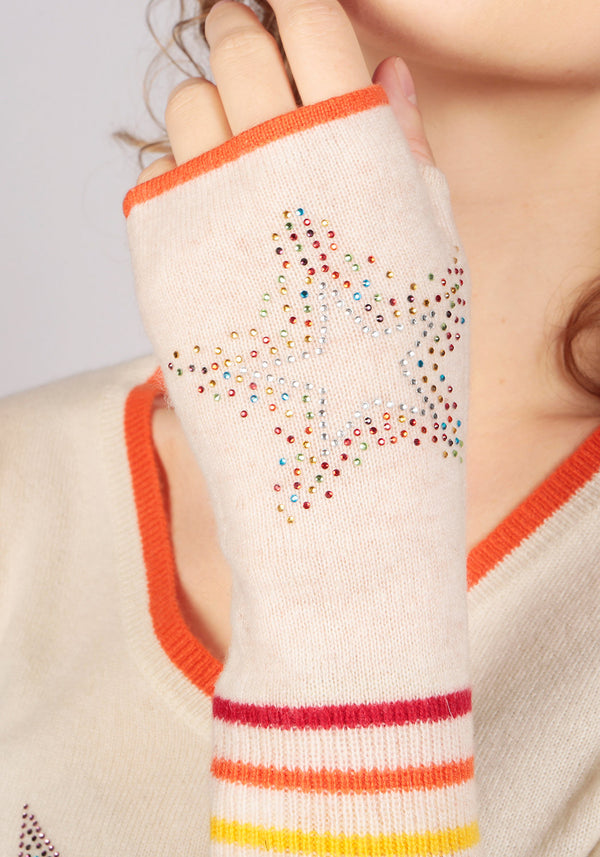 Berlin Oatmeal Cashmere Fingerless Glove - Adeela Salehjee
