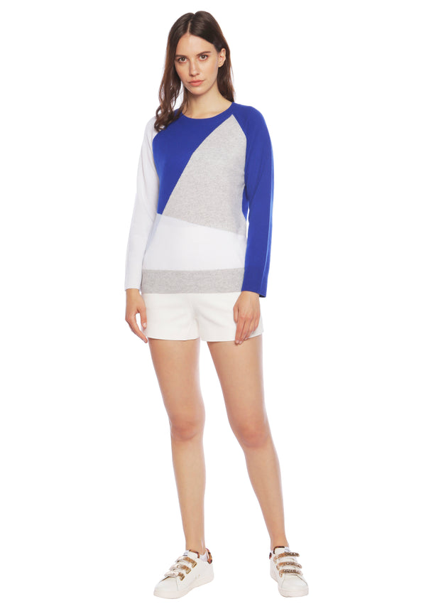 Havana Deep Blue Sea Cashmere Crew Neck