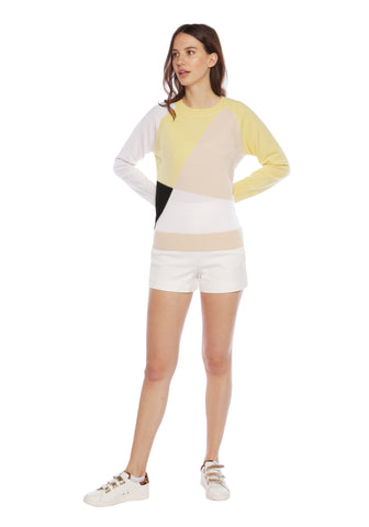 Havana Yellow Cashmere Crew Neck