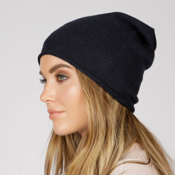 London Navy Beanie - Adeela Salehjee