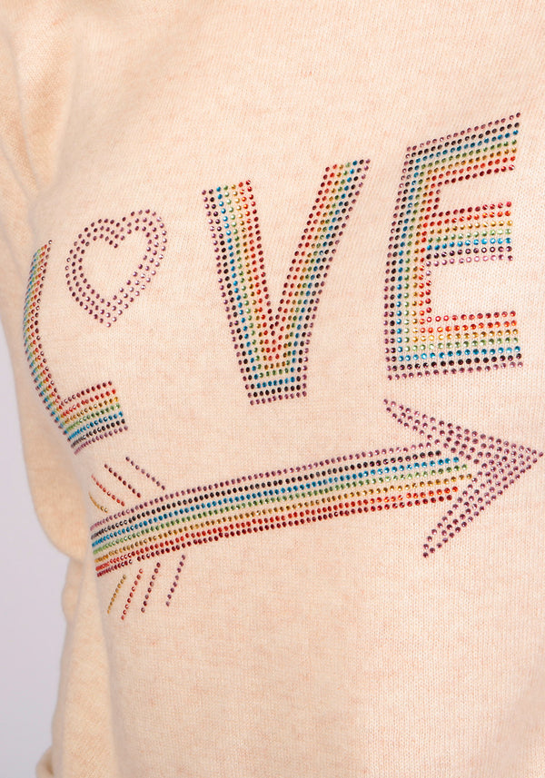 Love Oatmeal Sweater - Adeela Salehjee