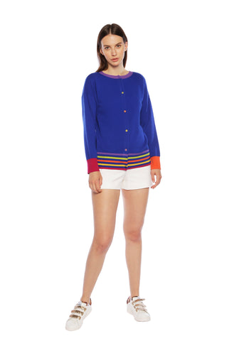 Lucia Deep Blue Sea Reversible Cardigan
