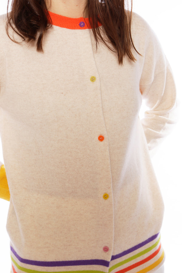 Lucia Oatmeal Reversible Cardigan