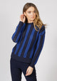 Malmo Blue Cable Knit Jumper