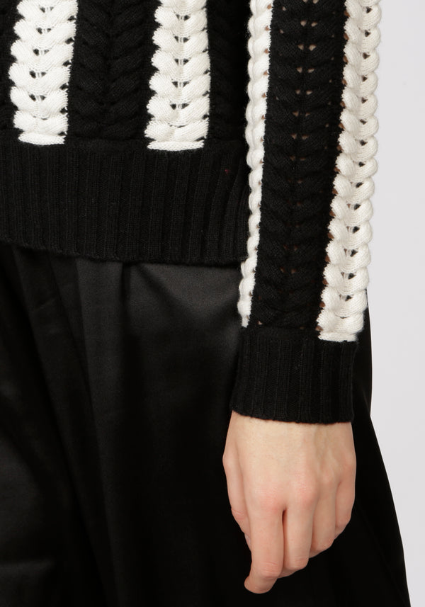 Stockholm Monochrome Roll Neck Jumper