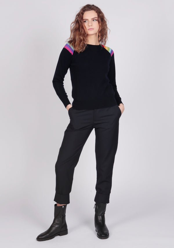 Hawaii Dark Navy Lightweight Crew Neck - Adeela Salehjee