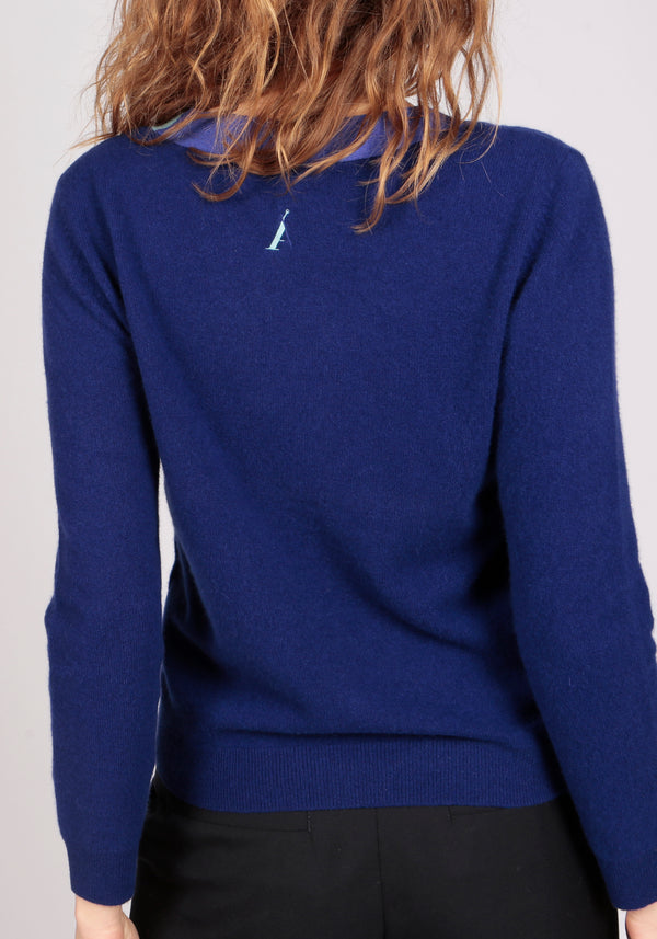 Ravello Deep Royal Blue Lightweight Vee - Adeela Salehjee