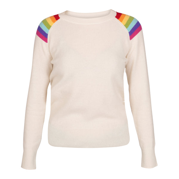 Hawaii Natural White Lightweight Crew Neck - Adeela Salehjee