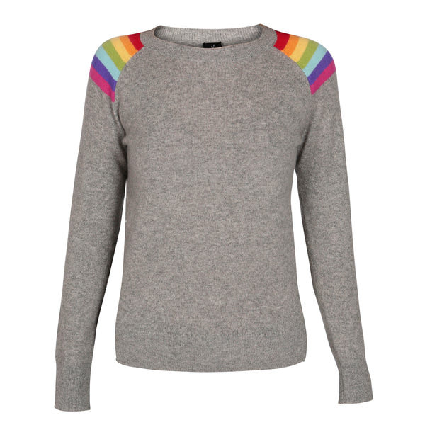 Hawaii Mid Grey Melange Lightweight Crew Neck
