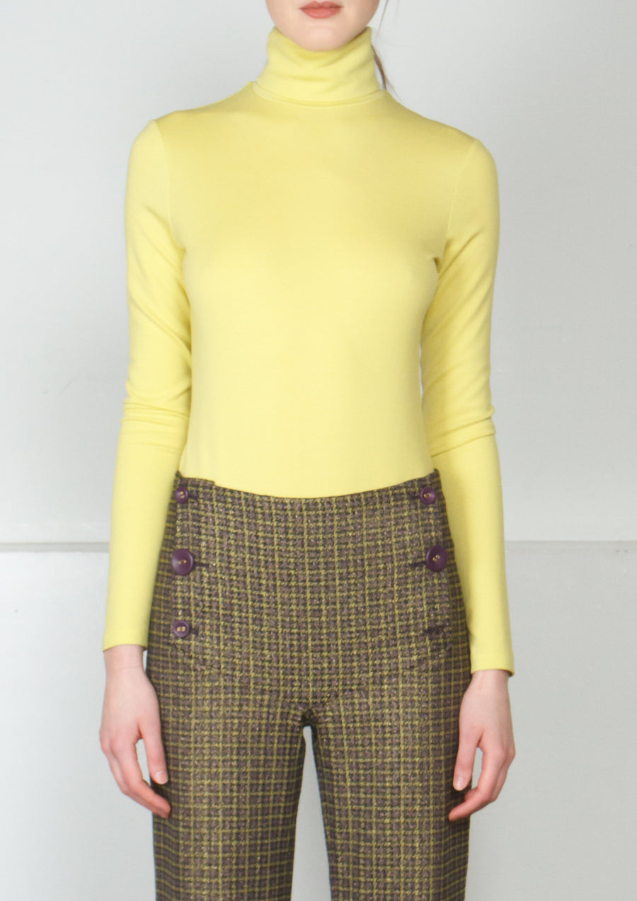 CHARTREUSE JERSEY BODYSUIT