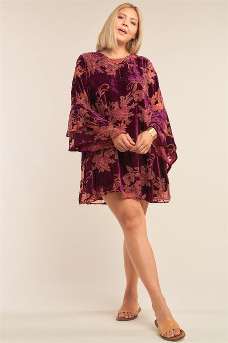Velvet Angel Sleeve Dress