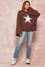 Fuzzy Knit Star Sweater