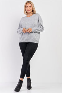 Soft Ribbed Fleece Sweatshirt