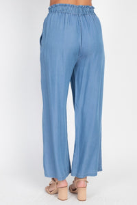 Wide Leg Lyocell Pants
