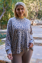 Cheetah Hooded Relaxed Fit Sweatshirt