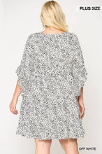 Dot Print Tiered Ruffle Sleeve Dress