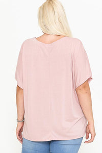 V-neck Dolman Short Sleeve Top