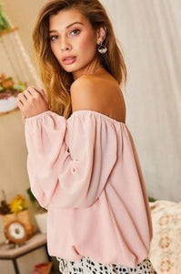 Off Shoulder Bubble Sleeve Top