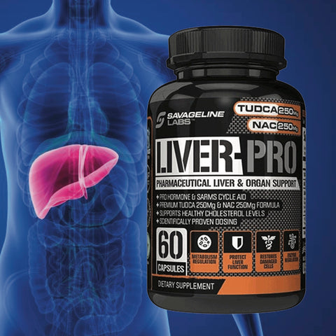 Liver Pro with TUDCAN and NAC. Helps with Liver and organ for detox. Taken often with sarm, myosta, myolgd, myorad, myohgh or trt.  Popular for damage preventin from steroids.