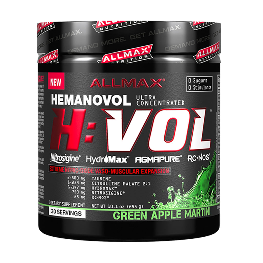 Allmax Hemanovol H:vol 30 serv. green apple