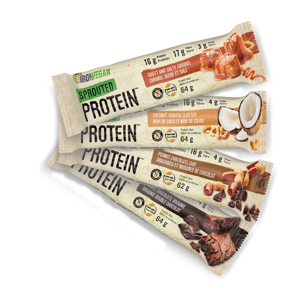 Iron Vegan Sprouted Protein bar 64 gm.