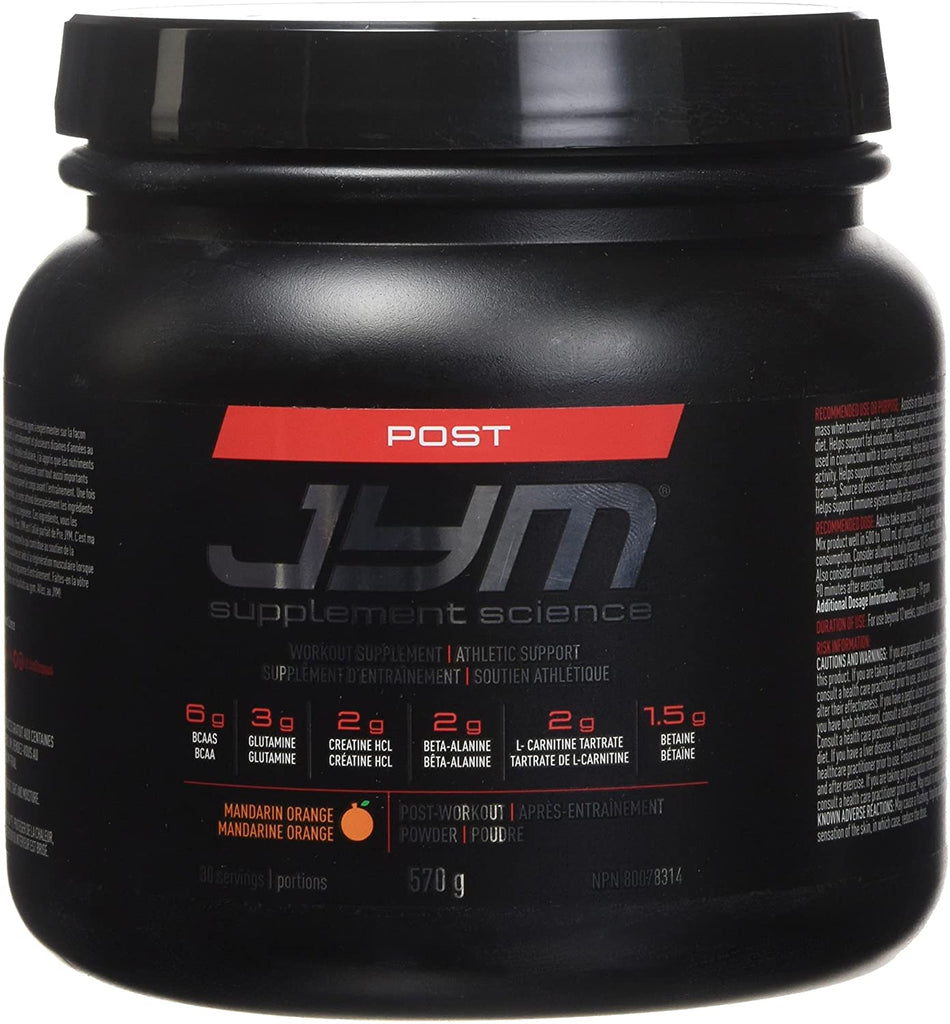 CLEARANCE JYM POST WORKOUT  570 gm.