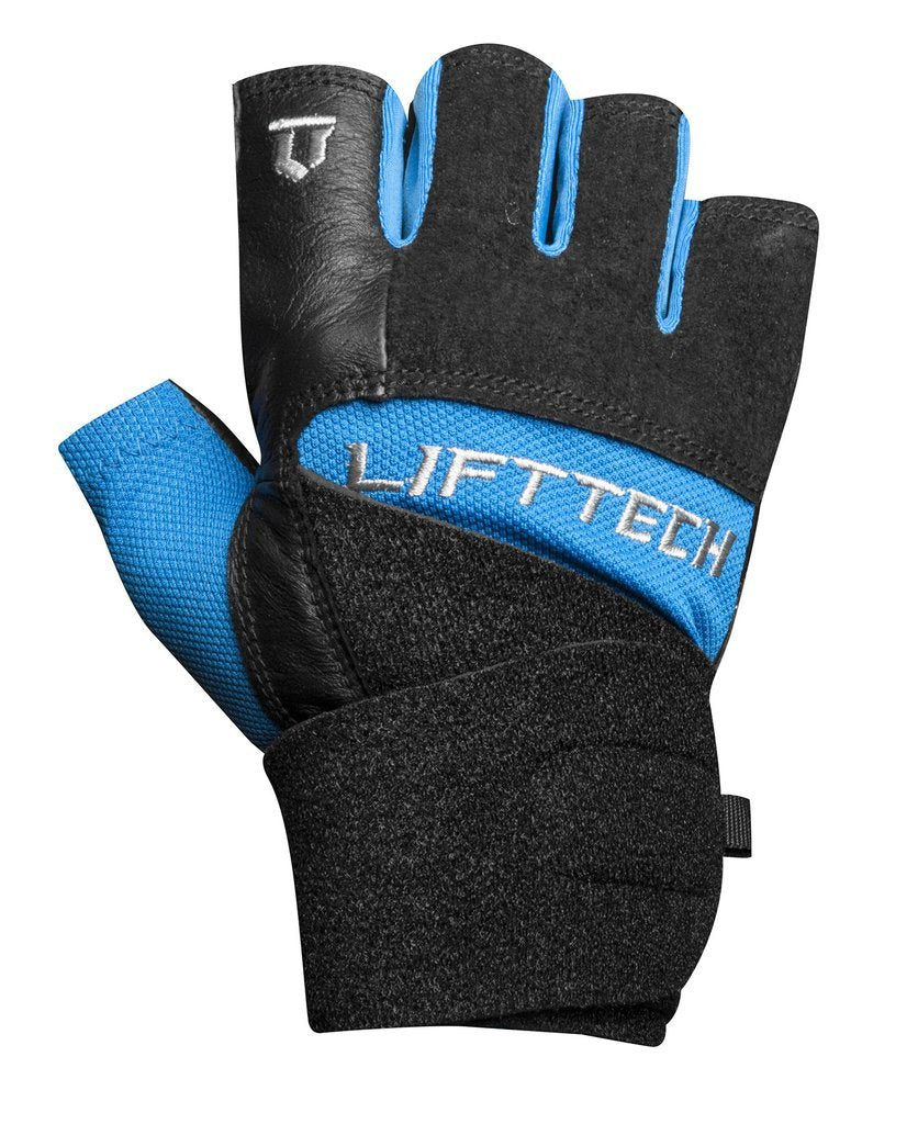 LIFTTECH Men's Elite Wrist Wrap Glove blue/blk