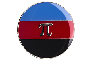 Polyamorous Button Circle Pin