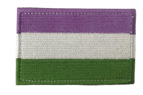 Genderqueer Pride Embroidery Patch
