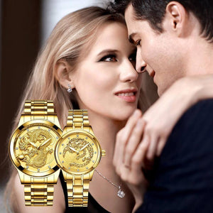 Best Seller Couple Dragon & Phoenix Watch with Free 2 Dragon Ring