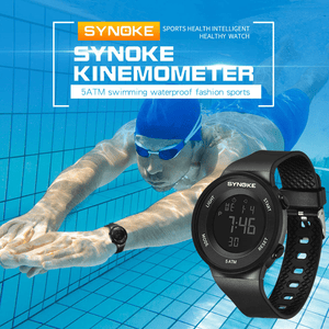 SYNOKE Fitness LED Digital Watch Men Watch Alarm 50m Waterproof