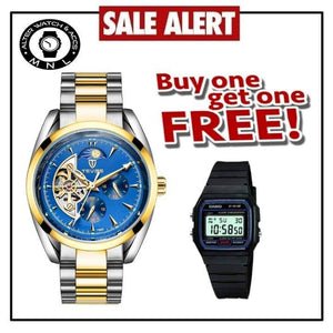TEVISE LIMITED EDITION AUTOMATIC MECHANICAL  WITH FREE CASIO WATCH