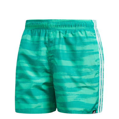 Adidas 3 Streifen All Over Print Badehose Badeshort Shorts Beach grün - Kopensneakers