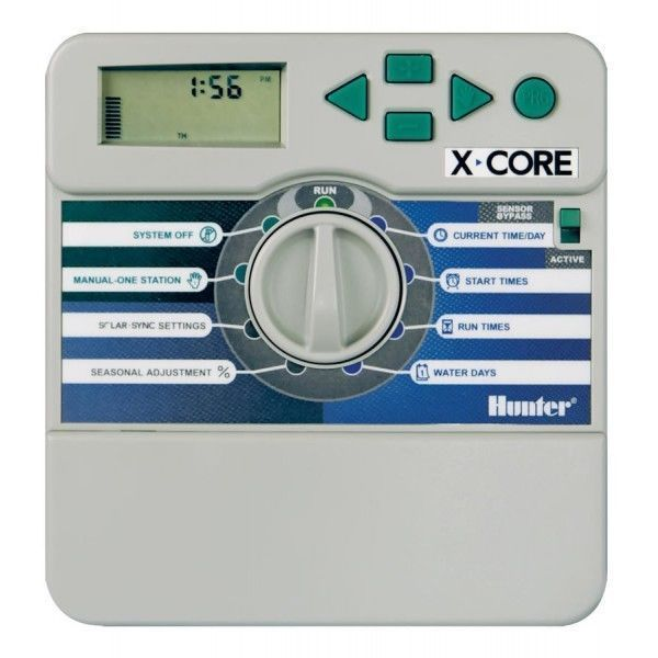 HUNTER X-CORE 4 STATION INDOOR CONTROLLER - 2 YEAR WARRANTY