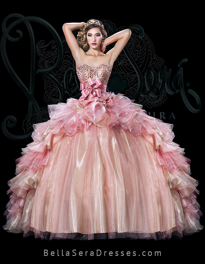 QUINCEANERA DRESS BS - Style 1501A - bella-sera-dresses.com