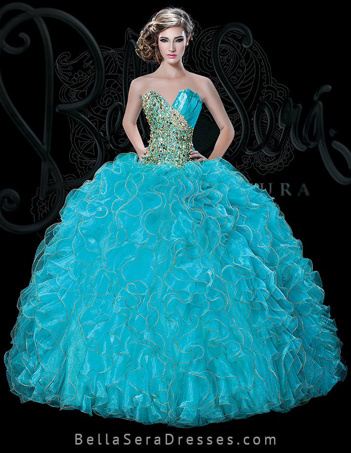 QUINCEANERA DRESS BS - Style 1509T - bella-sera-dresses.com