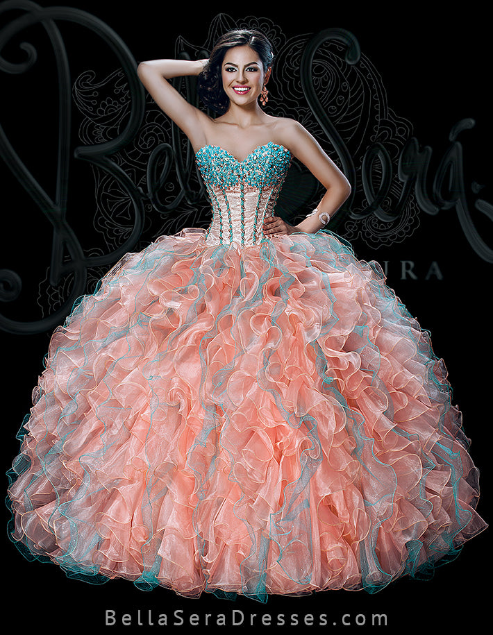 QUINCEANERA GOWN BS - Style 1525T - bella-sera-dresses.com
